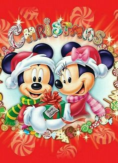 Christmas Mickey And Minnie Mobile Wallpaper Find This Pin More On Mouse