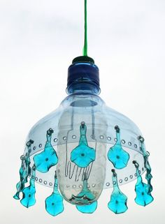 PET lamp IX.- recycled PET bottles, Veronika Richterova