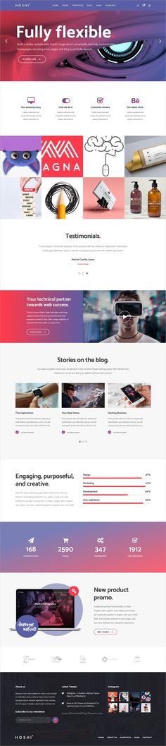 Hoshi is a modern design responsive #WordPress theme for digital agencies, #tech #business, freelancers and startups websites with 9+ stunning homepage layouts download now➩ https://themeforest.net/item/hoshi-a-modern-theme-for-digital-agencies-and-freelancers/19269435?ref=Datasata