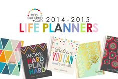 I totally want to get an Erin Condren Life Planner! These are adorable!