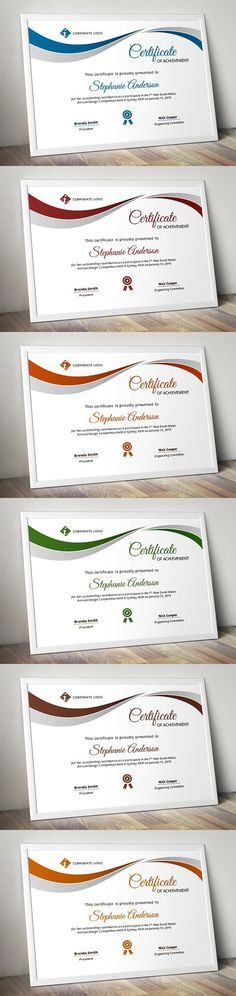Complete Resume Vol 5 PowerPoint Templates $700 PowerPoint - Corporate Certificate Template