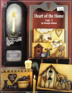 Heart Of The Home Vol. 3 By Carolyn Altona Tole And Decorative Painting Book 2000 Book Crafts, Arts And Crafts, Craft Books, Painting On Wood, Painting & Drawing, Tole Painting Patterns, Painted Patterns, Vintage Cross Stitches, Pintura Country