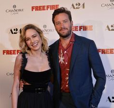 """Brie Larson and Armie Hammer, cast members in the film """"Free Fire,"""" attend the premiere at the ArcLight Cinema Dome in… – @UPI Photo Gallery"""