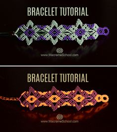 Star Flower Bracelet Tutorial #Bracelet #Tutorial #Macrame #Jewelry #Star #Flower #DIY