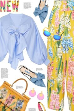 Dolce+&+Gabbana+floral+pants from anne-irene  - trendme.net