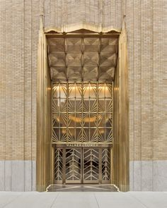 Art Deco ~ New York City | Entrance, Walker Tower, 212 West 18th Street, Chelsea, Manhattan. Designed by Ralph Walker, 1929.