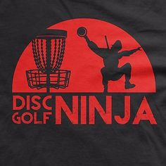 Disc Golf Ninja t shirt golf shirt funny tshirt sports tee frisbee golf shirt