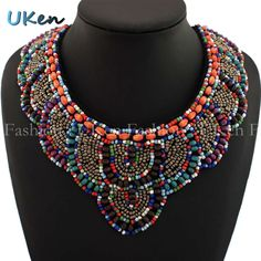 Fashion Accessories Multicolor Wood / Candy Beads Hand made Collars Charm All Match Ladies Clothes Necklace 2014 Jewelry N1469-in Choker Necklaces from Jewelry on Aliexpress.com | Alibaba Group