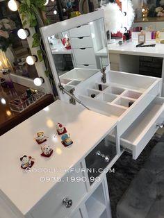Vanity Table Set, Organization Skills, Natural Beauty Tips, Mirror, Random, Makeup, Hot, Inspiration, Home Decor