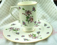 Vintage Royal Victoria fine china buffet plate and by EllaBella07, $10.00
