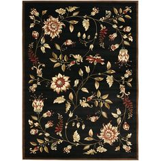 Modern Area Rug Floral Design Beautiful for Living Room | Rugs ...