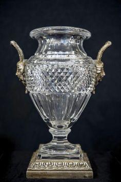 Vase Baccarat Médicis monture bronze - XIXème