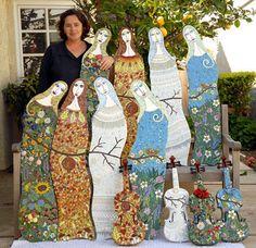 Mosaic Artist – Irina Charny – Mosaic Tip – Working with Thinset – Baggy Method   Mosaic Art Source