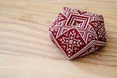Ukrainian Folk Biscornu - PDF CHART Cross Stitch Pattern / biscornu pattern Instant Download