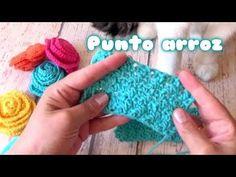 COMO HACER EL PUNTO ARROZ A CROCHET | point de riz a crochet - YouTube