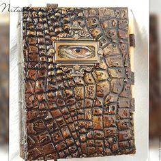 """Купить Блокнот """" Всевидящее око"""" - коричневый, блокнот ручной работы, блокнот для записей"""