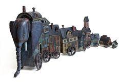 Vladimir Gvozdev - Gvozdariki : steampunk ~ bunch of girls Steampunk Design, Steampunk Fashion, Retro Futuristic, Ceramic Clay, Dieselpunk, Clay Art, Figurative Art, Altered Art, Art Lessons