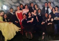 """Pin for Later: Talk About Old School: Hilarious Prom Photos From Days Gone By  """"I'm the one in the back row wearing a navy dress. I kept it pretty neutral."""" — Kelly Schwarze"""