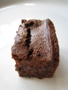 Grain-free Kefir Brownies with kefir, coconut flour, eggs, cacao powder, chocolate chunks, vanilla, baking soda, sea salt, stevia