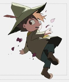 """""""playing around w/ lighting with Snufkin. He has such a timeless design! Cartoon Shows, Cute Cartoon, Moomin Valley, Little My, Fauna, Character Illustration, Cute Art, Fairy Tales, Character Design"""