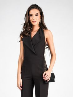 06a5f67db549 Kombinezon CARLA BY ROZARANCIO  overall  fashion  trend  overall fashion   black  black fashion  women fashion