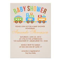 Transportation Baby Shower Invitations