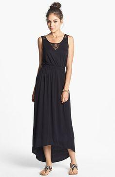 Lush Lace Yoke Maxi Dress (Juniors) available at #Nordstrom