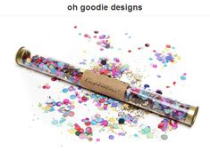 Confetti wands - one of the many prizes from oh goodie designs from our YourCloudParade.com holiday giveaway! Enter to win here! | via junebugweddings.com