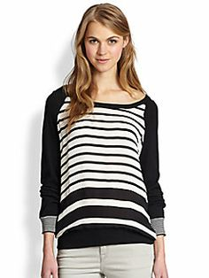Joie - Malena Striped Sweatshirt
