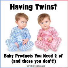 Having Twins? Baby Products You NEED Two of (and those you don't!) #twins #baby twins, parenting twins, #twins