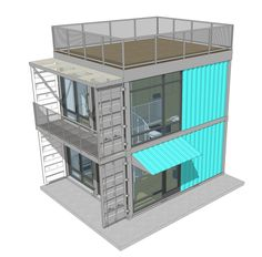 Container House - Shipping container apartments planned in Schnitzelburg Who Else Wants Simple Step-By-Step Plans To Design And Build A Container Home From Scratch? Shipping Container Buildings, Cargo Container Homes, Shipping Container Home Designs, Building A Container Home, Container Cabin, Container House Design, Shipping Containers, Container Sales, Container Store