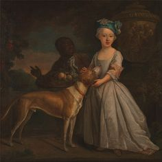 Bartholomew Dandridge (A Young Girl with a Dog and a Page)