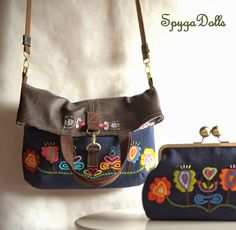 """Spygadolls Bags: Colección """"Blue Folk"""", Fall-winter 14/15"""