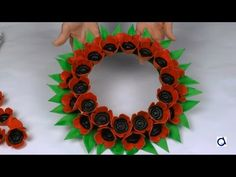 Poppy wreath craft for Remembrance Day Poppy wreath., Poppy wreath craft for Remembrance Day Poppy wreath craft for Remembrance Day, My Crafts and DIY Projects. Wreath Crafts, Diy Wreath, Flower Crafts, Remembrance Day Activities, Remembrance Day Poppy, Memorial Day, Poppy Craft For Kids, Veterans Day Poppy, Peace Crafts