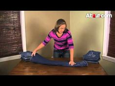 How to Fold Jeans - YouTube
