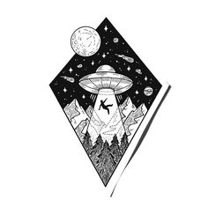 754c517dfe062780b97cba210cb8de01--ufo-tattoo-ufo-sketch.jpg (736×736)