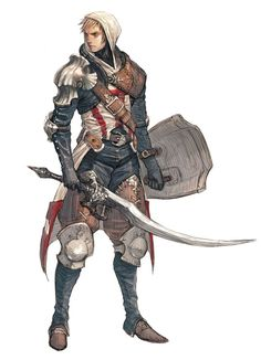 character study02 by ~tahra on deviantART, Male Warrior: