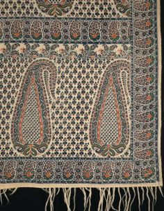 First third of the 19th century, Scotland - Wool shawl