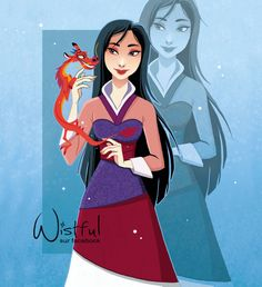 Mulan and Mushu the dragon