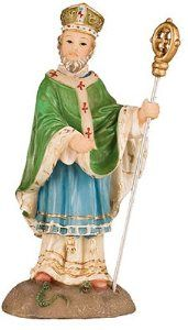 Saint Patrick resin statue by Florentine, the statue measures 4 inch and comes boxed. St Patrick's Day Gifts, Irish Blessing, Saint Patrick, Patron Saints, Inspirational Gifts, St Patricks Day, Resin, Blessed, Statue