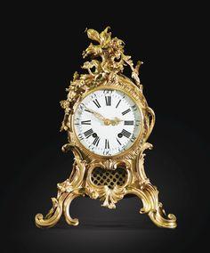 GILTBRONZE CLOCK, LOUIS XV