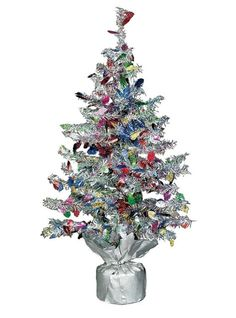 Tinsel Mini Christmas Tree 19in - Party City