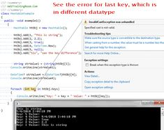 C# Hashtable Example: loop through hashtable in c# syntax C Syntax, C Tutorials, It Works, How To Remove, It Cast