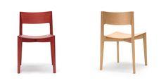 Elementary chair - Stacking American oak chair by Jamie McLellan