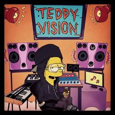 """Mina Kwon (120428): """"One of the greatest inspirations Teddy oppa as bart simpson!"""""""