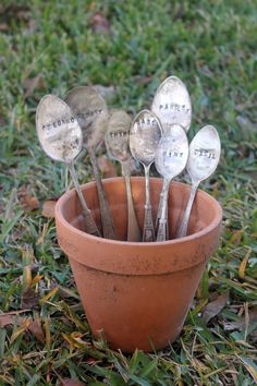 Herb Garden Markers  Build your own set by LazyLightningArt, $25.00