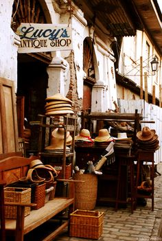 Lucy's antique shop...this looks like fun!