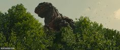 Godzilla frightens birds from the tree tops in an exclusive new SHIN GODZILLA photo courtesy of Funimation Films.  © 2016 Toho Co., Ltd. Licensed by Funimation® Productions, Ltd. All Rights Reserv…