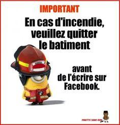 Conseil de sécurité ,   IMPORTANT En cas d'incendie, veuillez quitter le bâtiment  -Facebook