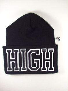 Ashlei Shannon HIGH Graphic Beanie - Black on Black. Shop Winter Beanies.